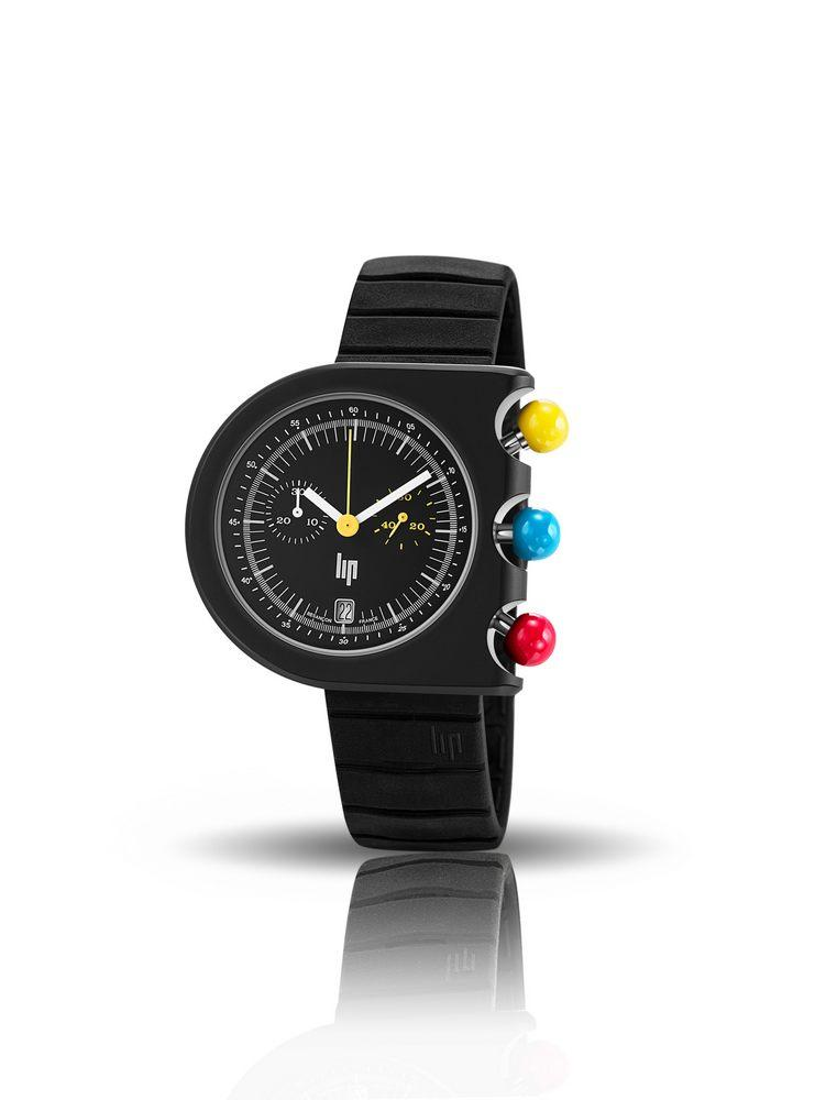 670080 montre homme chronographe lip dark master mach 2000 de roger tallon montres lip. Black Bedroom Furniture Sets. Home Design Ideas