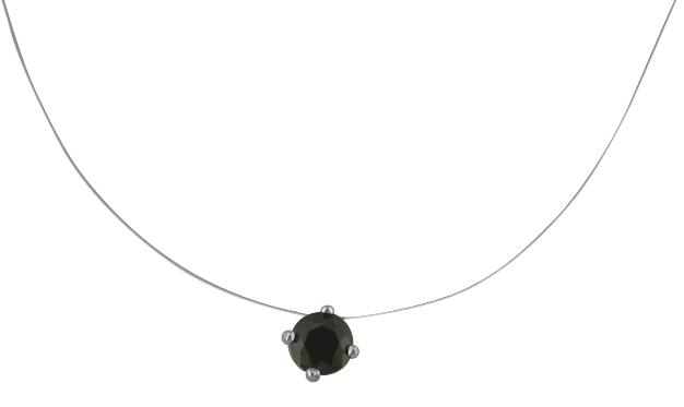 collier argent zirconium griffe