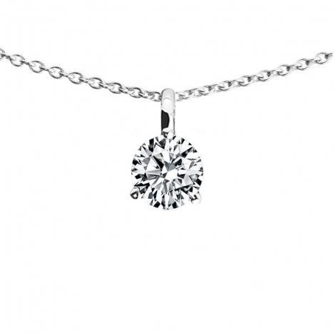 collier diamant solitaire 0.30 carat