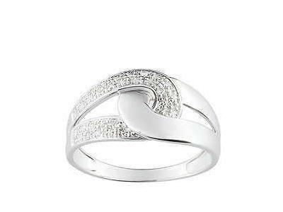 fc9449e727fa6 Bague Diamant 0,025 Carat Or Blanc Rhodié 9 Carats - Réf. 09ZJ95GB5