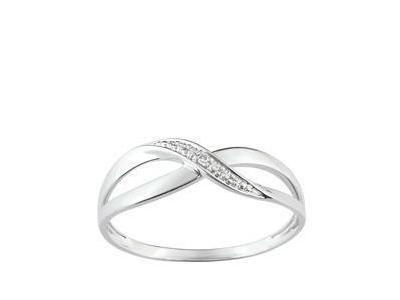 bague diamant or gris