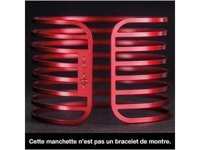 bracelet manchette themata lines acier rouge cerise anti allergie mcl5ce r f mcl5ce bijoux. Black Bedroom Furniture Sets. Home Design Ideas