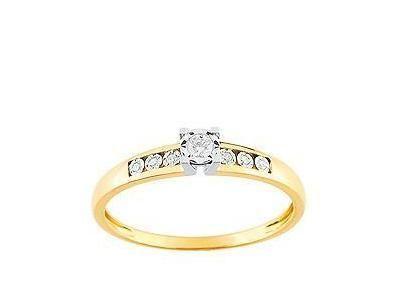 0754acb869d Solitaire Diamant Accompagné or Bicolore Gris Et Jaune 18 Carats - Réf.  PL087BB4